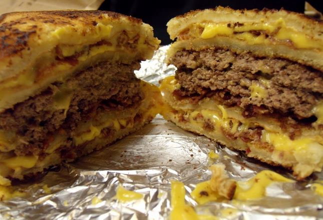 five guys secret menu double grilled cheese burger